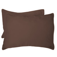 Mocha Brown 100% Bamboo Standard Shams - Hypoallergenic, Eco Friendly - Set of 2