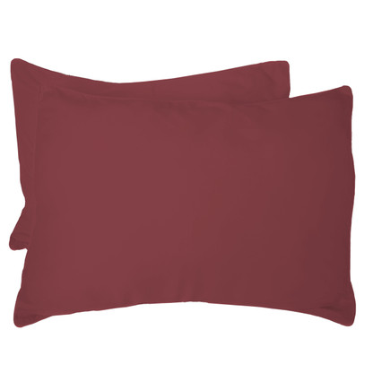 Cayenne Red 100% Bamboo Standard Shams - Hypoallergenic, Eco Friendly - Set of 2