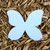 """Butterfly Plantable Seeded Paper Shape - 3.25"""" x 4"""" Size, Blue"""