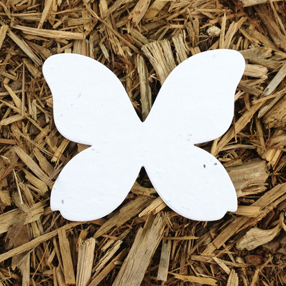 """Butterfly Plantable Seeded Paper Shape - 3.25"""" x 4"""" Size, White"""