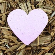 "Pink Heart Plantable Wildflower Seeded Paper Favor Shape - 2 5/8"" x 3"""