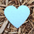 "Blue Heart Plantable Wildflower Seeded Paper Favor Shape - 2 5/8"" x 3"""