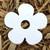 "White Daisy Flower 3"" Plantable Wildflower Seeded Paper Favor Shape"