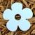 "Blue Daisy Flower 3"" Plantable Wildflower Seeded Paper Favor Shape"
