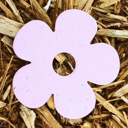 """Pink Daisy Flower 3"""" Plantable Wildflower Seeded Paper Favor Shape"""
