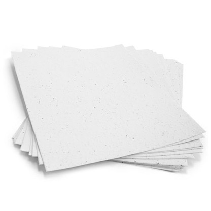 """White Plantable Wildflower Paper Sheets - 8.5"""" x 11"""""""