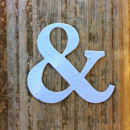 "Blue Ampersand & Symbol 2.75"" x 2.5"" Plantable Wildflower Seeded Paper Favor Shape"