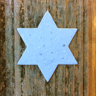 "Blue Star of David Jewish Plantable Wildflower Seeded Paper DIY Favor Shape - 2.5"" x 3"""