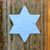 "Blue Star of David Jewish Plantable Wildflower Seeded Paper DIY Favor Shape - 2.5"" x 3"""