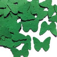 Emerald Green Butterfly Shaped Plantable Wildflower Seed Recycled Paper Wedding Confetti