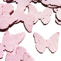 Pink Butterfly Shaped Plantable Wildflower Seed Recycled Paper Wedding Confetti