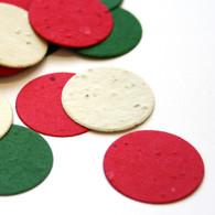 Christmas Mix Circle Shaped Seed Eco Confetti
