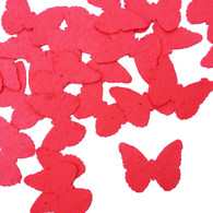 Bright Red Butterfly Shaped Plantable Wildflower Seed Recycled Paper Wedding Confetti