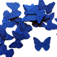 Royal Blue Butterfly Shaped Plantable Wildflower Seed Recycled Paper Wedding Confetti