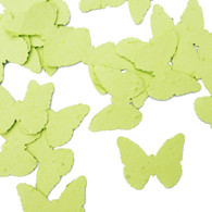Lime Green Butterfly Shaped Plantable Wildflower Seed Recycled Paper Wedding Confetti