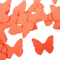 Tangerine Butterfly Shaped Plantable Wildflower Seed Recycled Paper Wedding Confetti