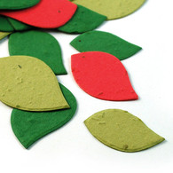 Christmas Mix Leaf Shaped Seed Confetti
