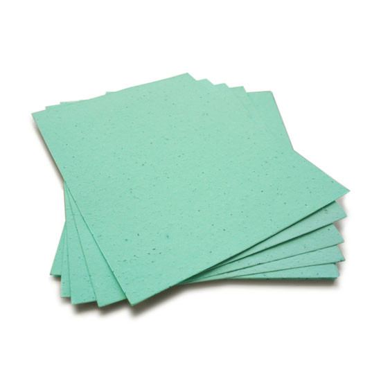 Aqua Blue Plantable Seeded Paper Sheets With Wildflower Seeds 8 5
