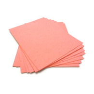 "Coral Plantable Wildflower Seed Seeded Paper Sheets - 8.5"" x 11"""