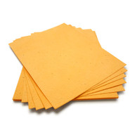 "Marigold Yellow Plantable Wildflower Seed Seeded Paper Sheets - 8.5"" x 11"""