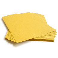 "Mustard Yellow Plantable Wildflower Seed Seeded Paper Sheets - 8.5"" x 11"""