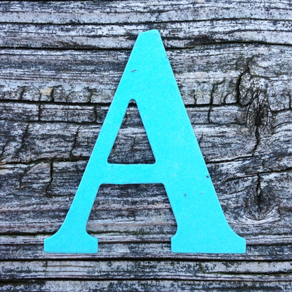 "Letter A Monogram Plantable Recycled Seeded Paper Shape - 2.5"" Tall"