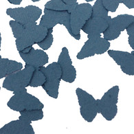 French Blue Butterfly Shaped Plantable Wildflower Seed Recycled Paper Wedding Confetti