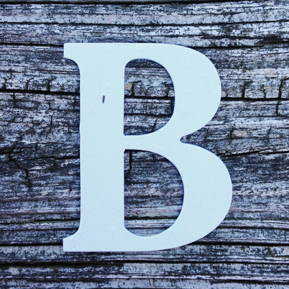 "Letter B Monogram Plantable Recycled Seeded Paper Shape - 2.5"" Tall"