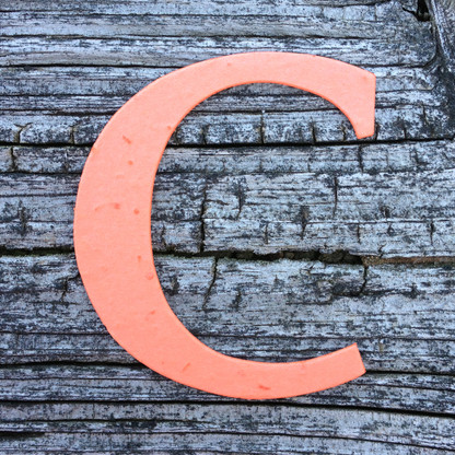 """Letter C Monogram Plantable Recycled Seeded Paper Shape - 2.5"""" Tall"""