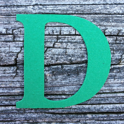 "Letter D Monogram Plantable Recycled Seeded Paper Shape - 2.5"" Tall"