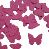 Berry Purple Butterfly Shaped Plantable Wildflower Seed Recycled Paper Wedding Confetti