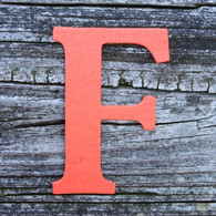 "Letter F Monogram Plantable Recycled Seeded Paper Shape - 2.5"" Tall"