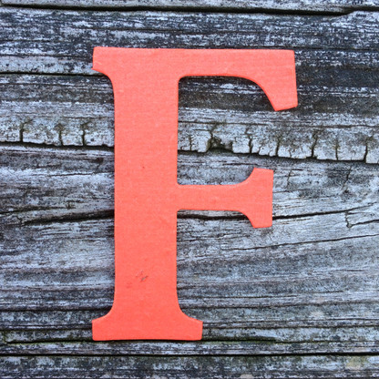 """Letter F Monogram Plantable Recycled Seeded Paper Shape - 2.5"""" Tall"""