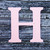 "Letter H Monogram Plantable Recycled Seeded Paper Shape - 2.5"" Tall"