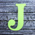 """Letter J Monogram Plantable Recycled Seeded Paper Shape - 2.5"""" Tall"""