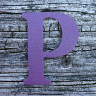 "Letter P Monogram Plantable Recycled Seeded Paper Shape - 2.5"" Tall"