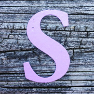 "Letter S Monogram Plantable Recycled Seeded Paper Shape - 2.5"" Tall"