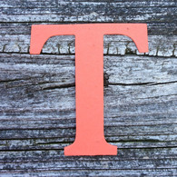 "Letter T Monogram Plantable Recycled Seeded Paper Shape - 2.5"" Tall"