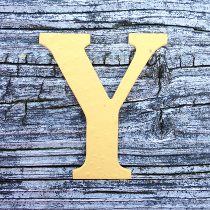 "Letter Y  Monogram Plantable Recycled Seeded Paper Shape - 2.5"" Tall"