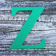 "Letter Z Monogram Plantable Recycled Seeded Paper Shape - 2.5"" Tall"