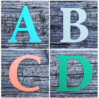 "Monogram Letters Plantable Recycled Seeded Paper Shape - 2.5"" Tall"