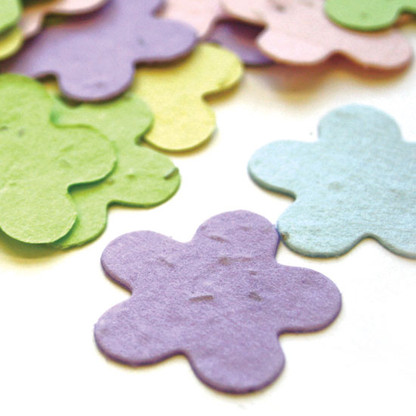 Flower Shaped Plantable Confetti - Assorted Pastel Mix