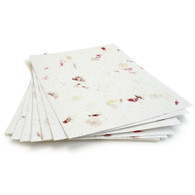 "Petalled White Plantable Wildflower Seed Seeded Paper Sheets - 8.5"" x 11"""