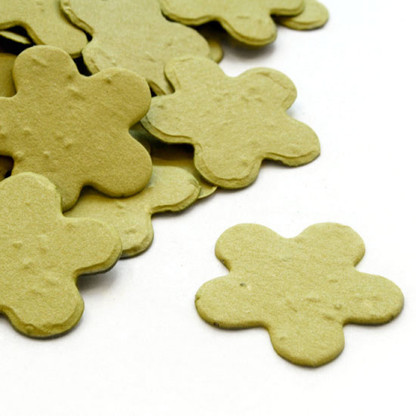 Flower Shaped Plantable Confetti - Olive Green
