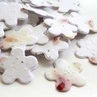 Flower Shaped Plantable Confetti - Petalled White