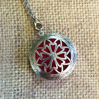 Essential Oil Diffuser Necklace with Antique Silver Filigree Design