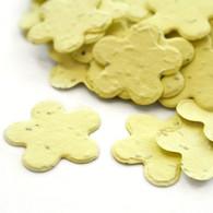 Flower Shaped Plantable Confetti - Pastel Yellow