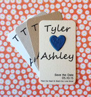 Save the Date Plantable Paper Heart Mini Favors - Set of 8
