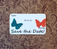 Save the Date Plantable Paper Butterfly Mini Favors - Set of 8