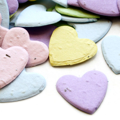 Heart Shaped Plantable Confetti - Assorted Pastel Mix
